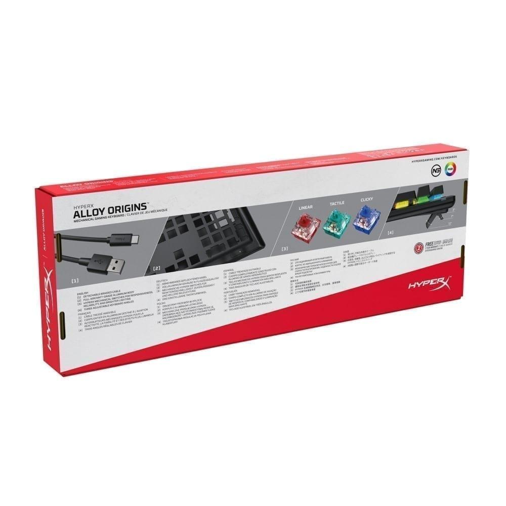 HyperX Alloy Origins Mechanical Gaming Keyboard Red Switch - HX-KB6RDX-US 6