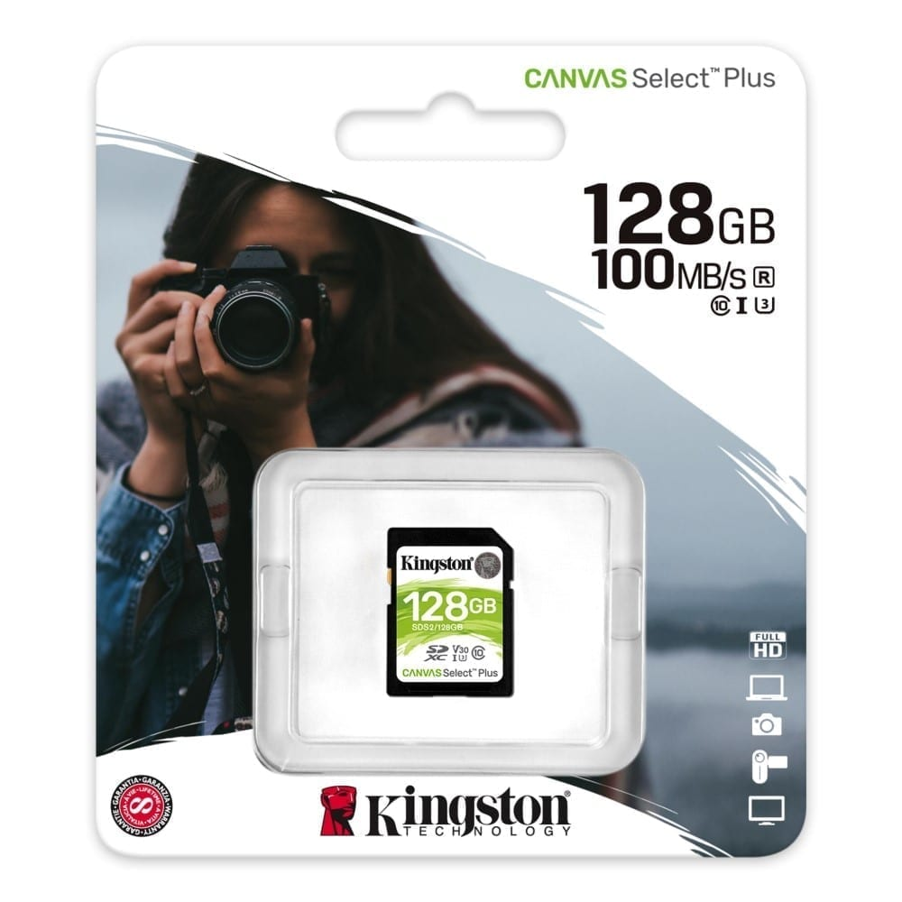 Kingston Canvas Select Plus SD Card for HD 1080p and 4K Video Cameras 6