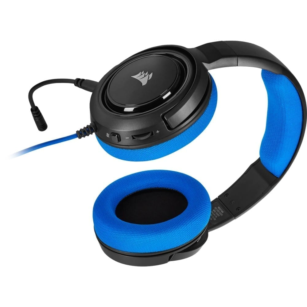 Corsair HS35 Stereo Gaming Headset — Blue - CA-9011196-NA 2