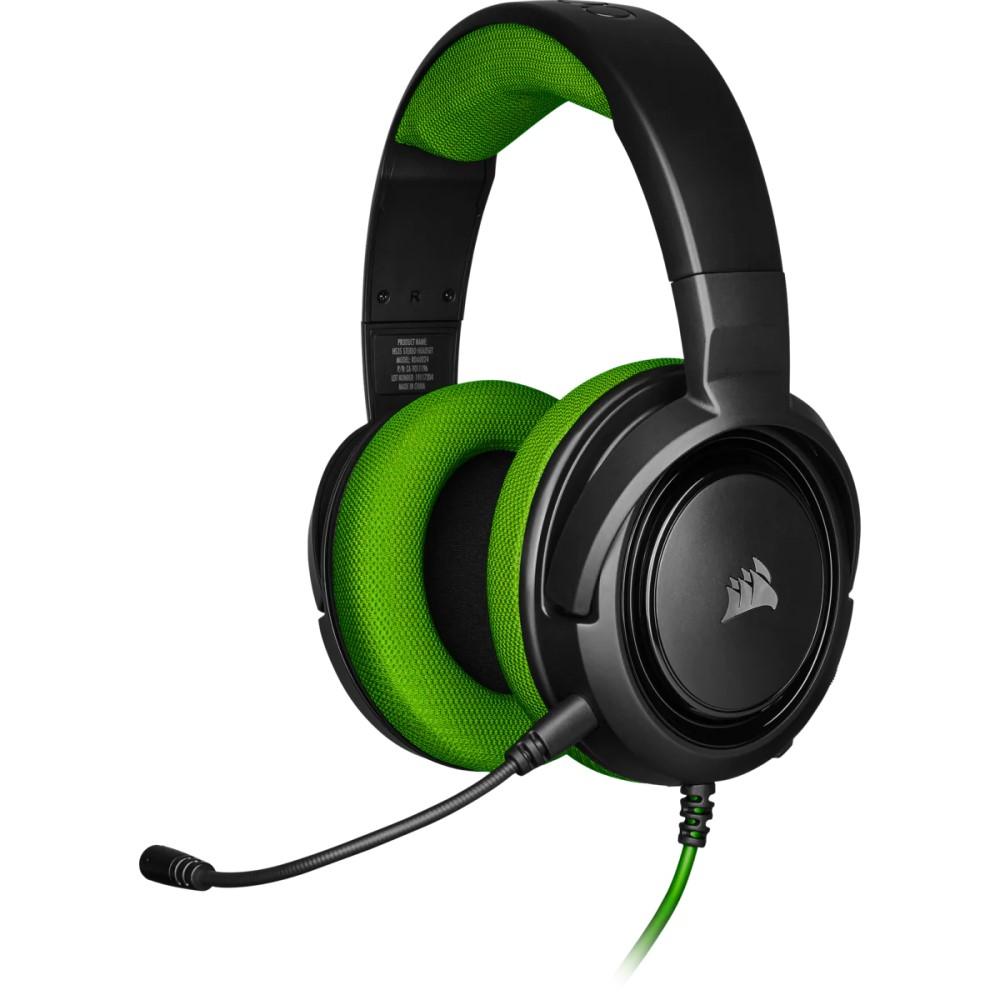 Corsair HS35 Stereo Gaming Headset — Green - CA-9011197-NA 1