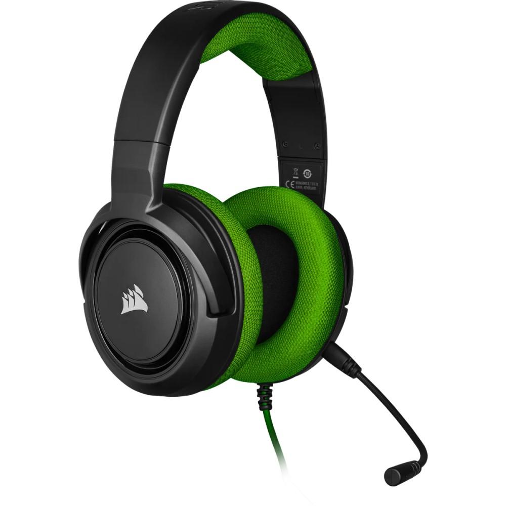 Corsair HS35 Stereo Gaming Headset — Green - CA-9011197-NA 2