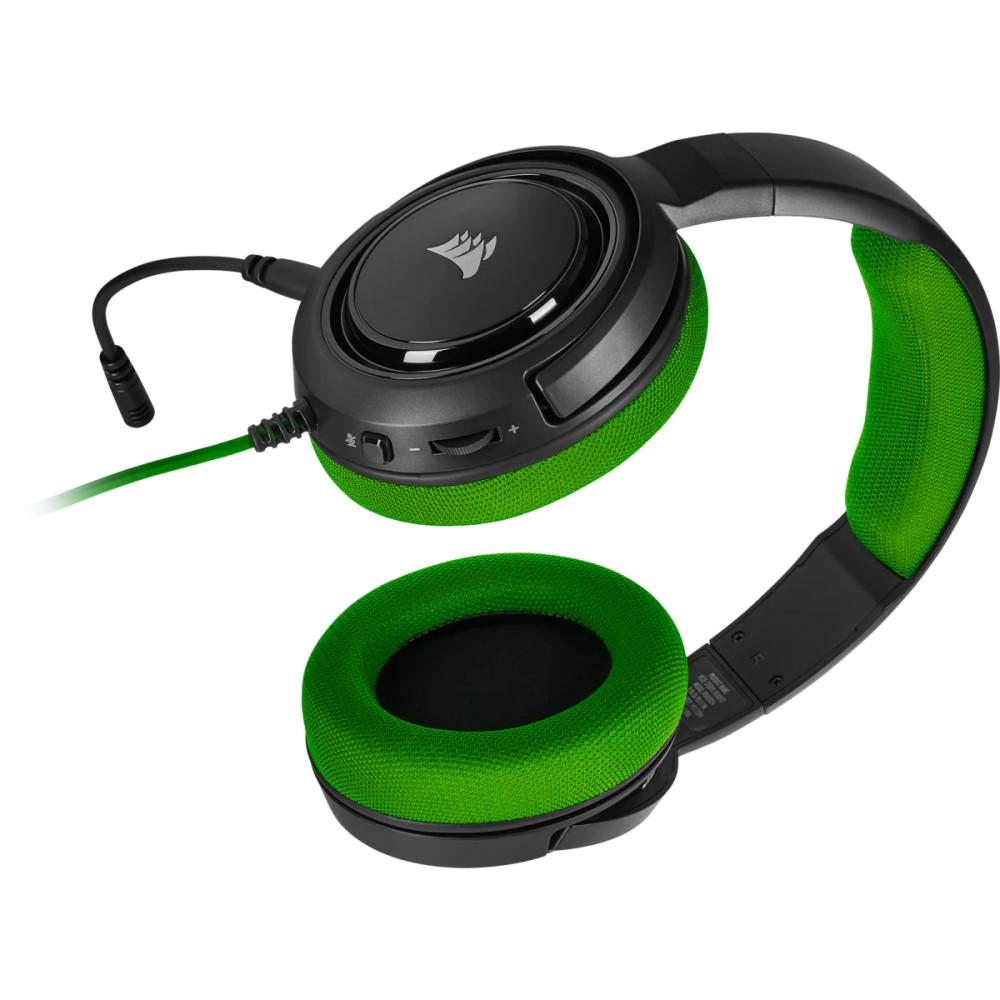 Corsair HS35 Stereo Gaming Headset — Green - CA-9011197-NA 4
