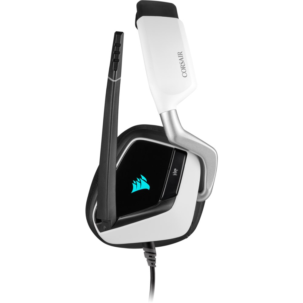 Corsair VOID RGB ELITE USB Premium Gaming Headset with 7.1 Surround Sound — White 12