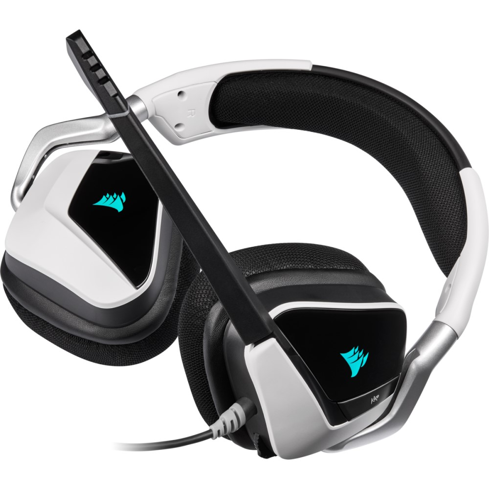 Corsair VOID RGB ELITE USB Premium Gaming Headset with 7.1 Surround Sound — White 13