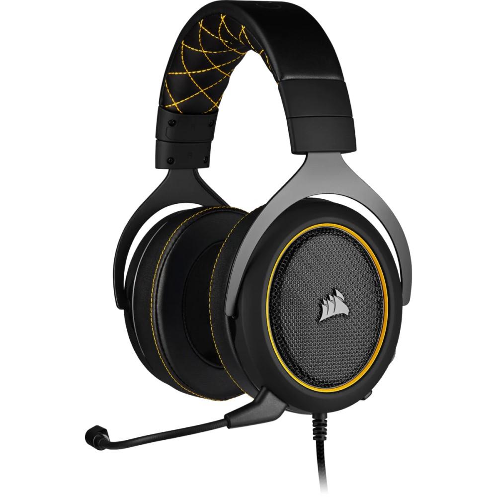 Corsair HS60 PRO SURROUND Gaming Headset — Yellow 1