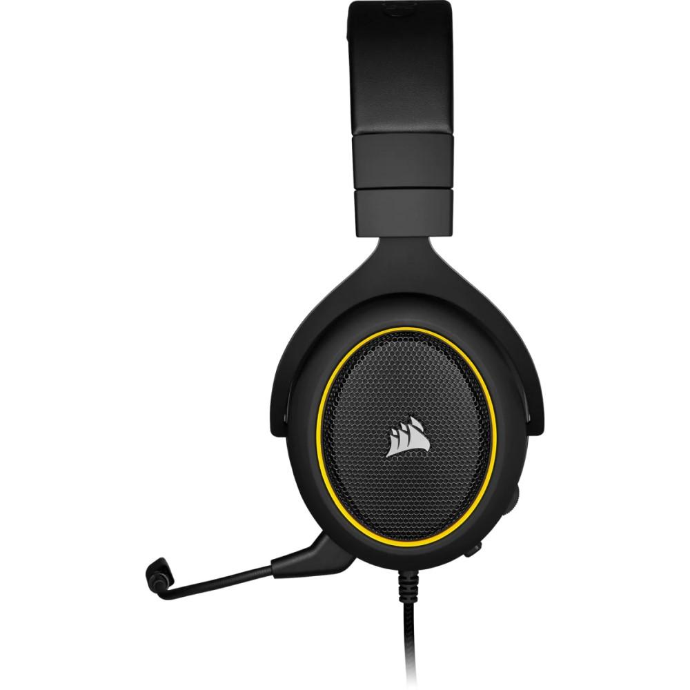 Corsair HS60 PRO SURROUND Gaming Headset — Yellow 7