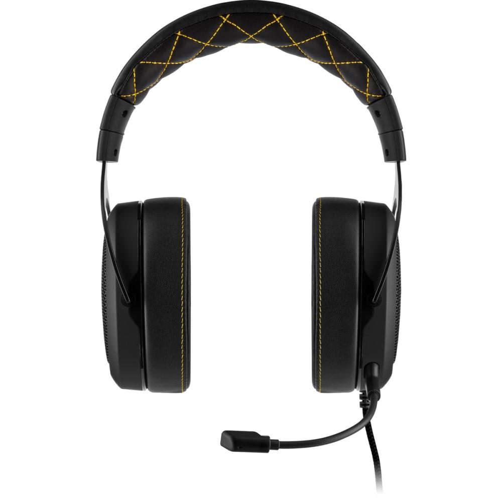 Corsair HS60 PRO SURROUND Gaming Headset — Yellow 9