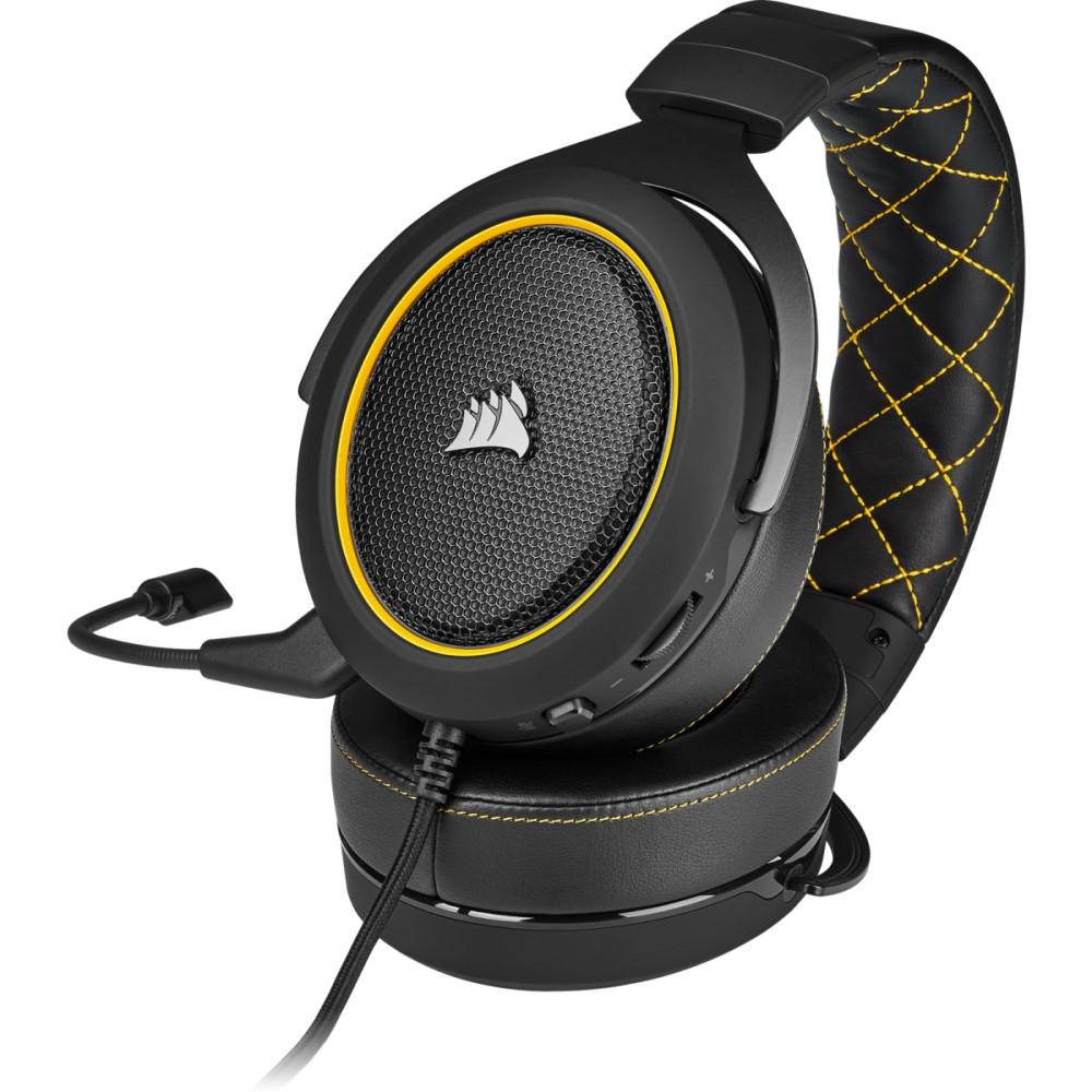 Corsair HS60 PRO SURROUND Gaming Headset — Yellow 5