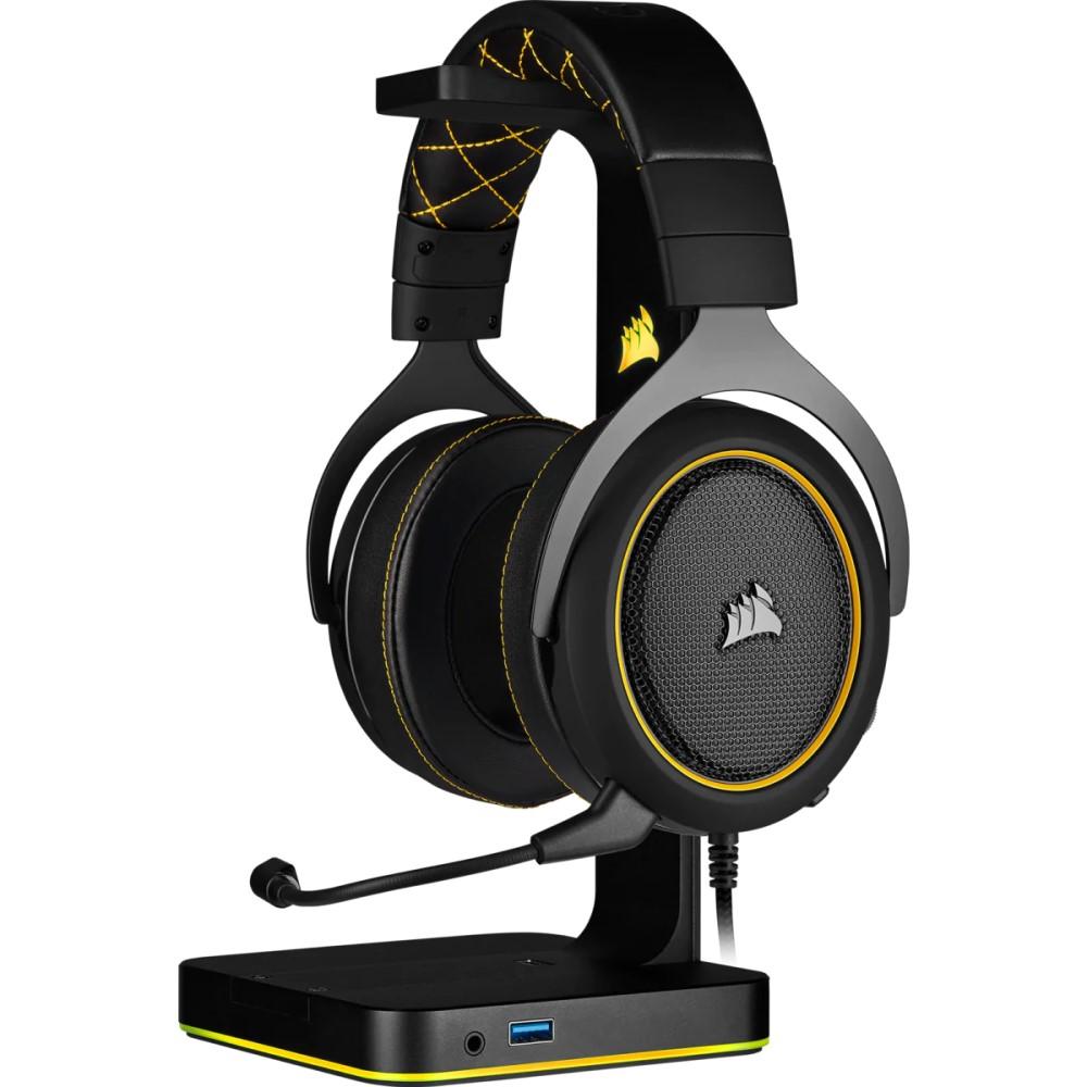 Corsair HS60 PRO SURROUND Gaming Headset — Yellow 6
