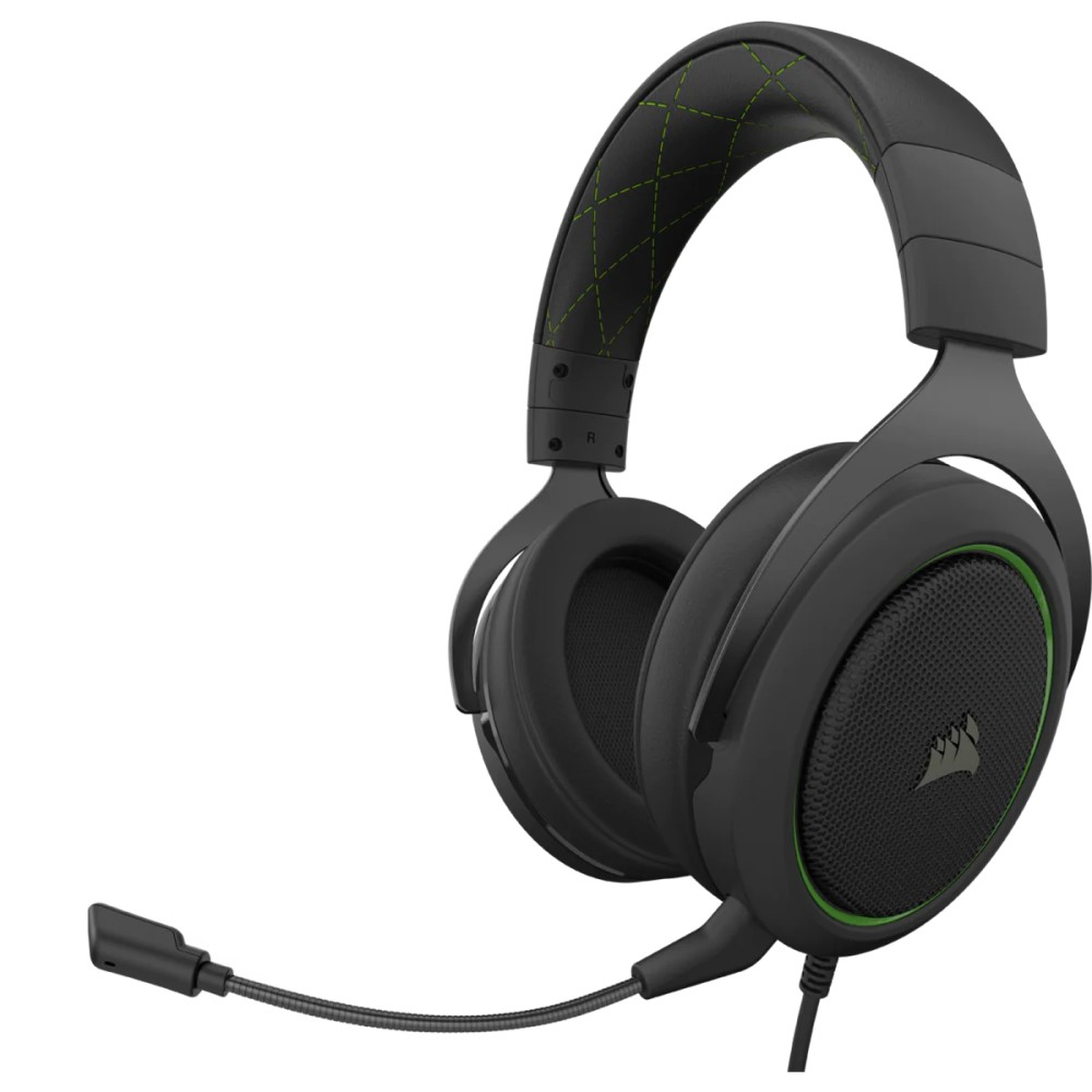 Corsair HS50 PRO STEREO Gaming Headset — Green 3