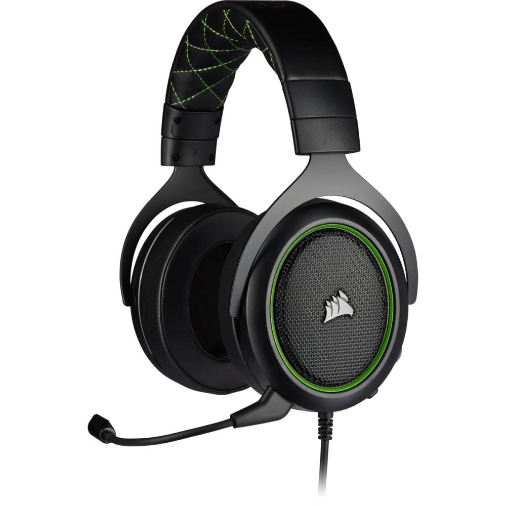 Corsair HS50 PRO STEREO Gaming Headset — Green 1