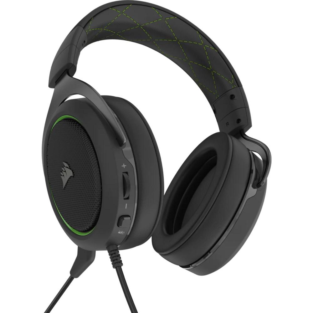 Corsair HS50 PRO STEREO Gaming Headset — Green 5