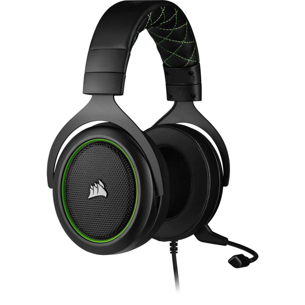 Corsair HS50 PRO STEREO Gaming Headset — Green 10