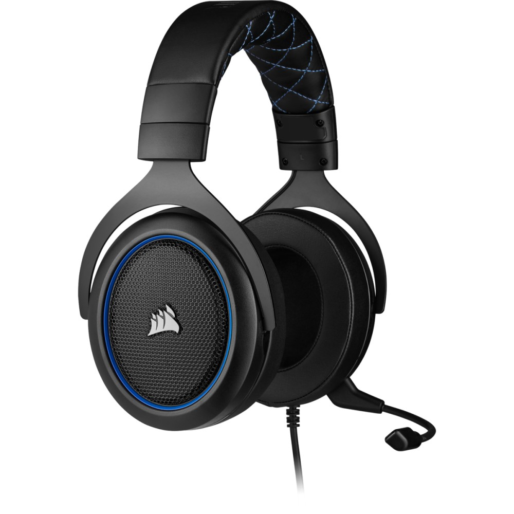 Corsair HS50 PRO STEREO Gaming Headset — Blue 7