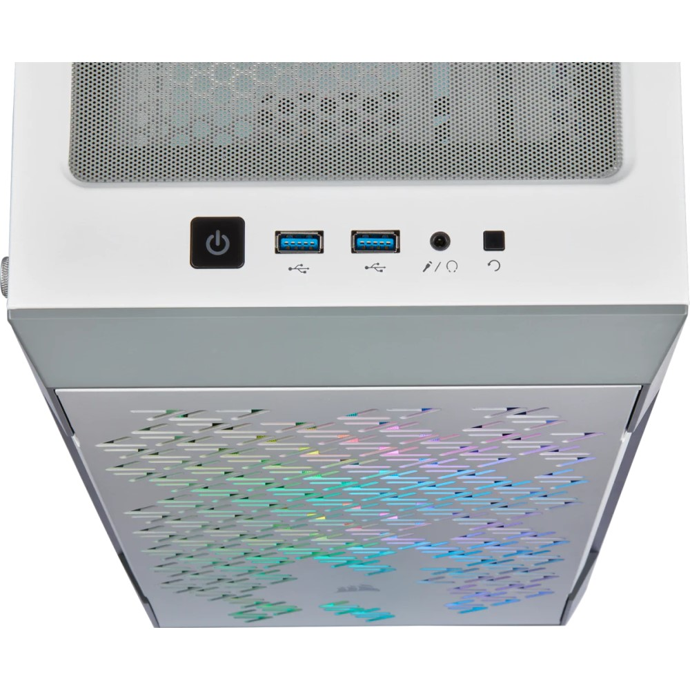 Corsair iCUE 220T RGB Airflow Tempered Glass Mid-Tower Smart Case — White 3