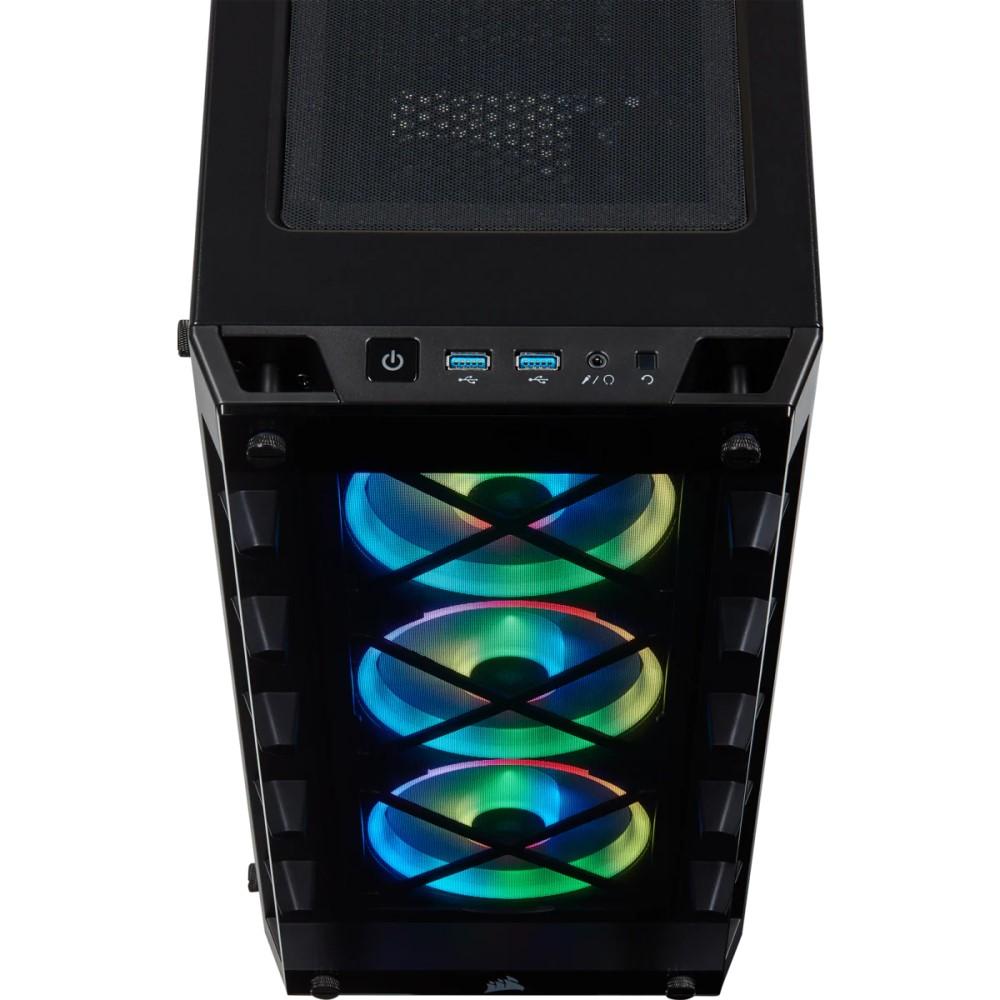 Corsair iCUE 465X RGB Mid-Tower ATX Smart Case — Black 7
