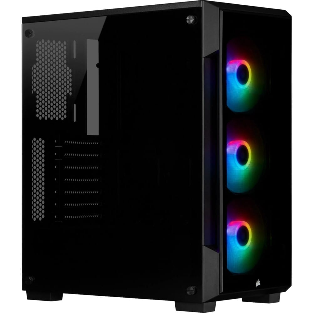 Corsair iCUE 220T RGB Tempered Glass Mid-Tower Smart Case — Black 1