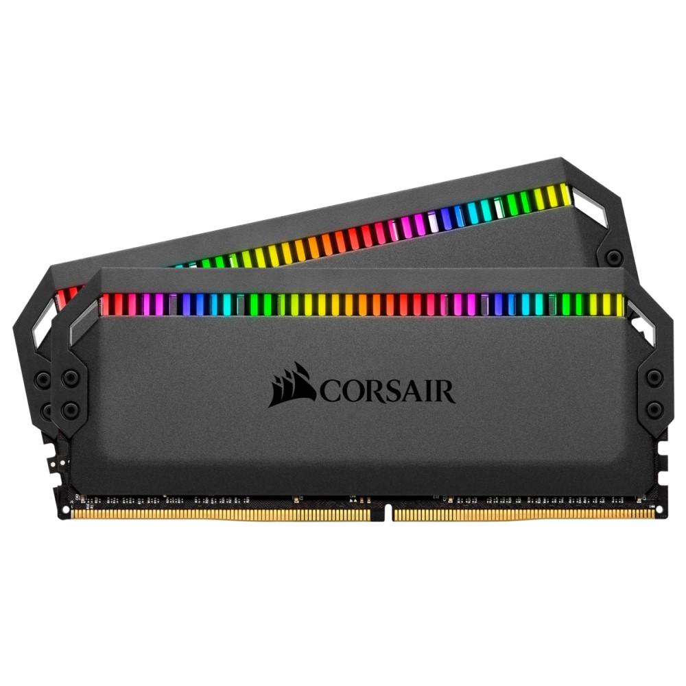 Corsair DOMINATOR PLATINUM RGB 32GB (2 x 16GB) DDR4 DRAM 3200MHz C16 Memory Kit 4