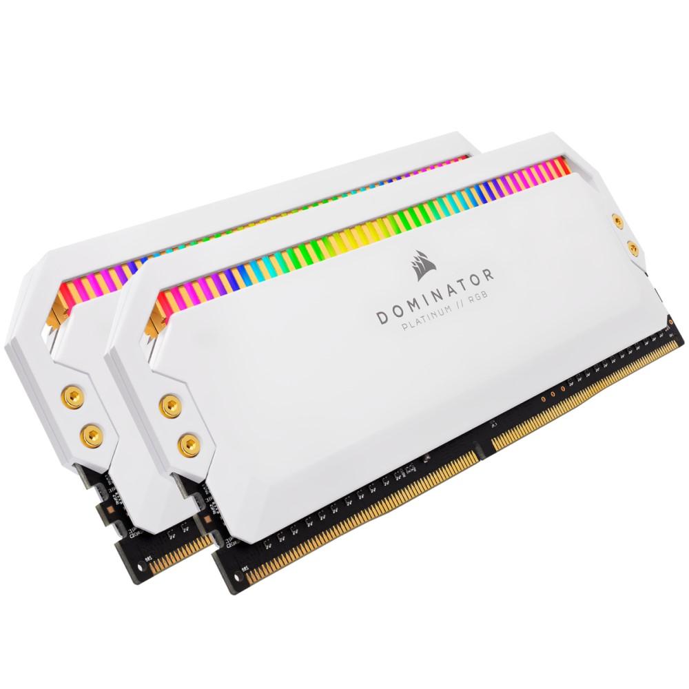 Corsair DOMINATOR PLATINUM RGB 32GB (2 x 16GB) DDR4 DRAM 3200MHz C16 Memory Kit — White 1