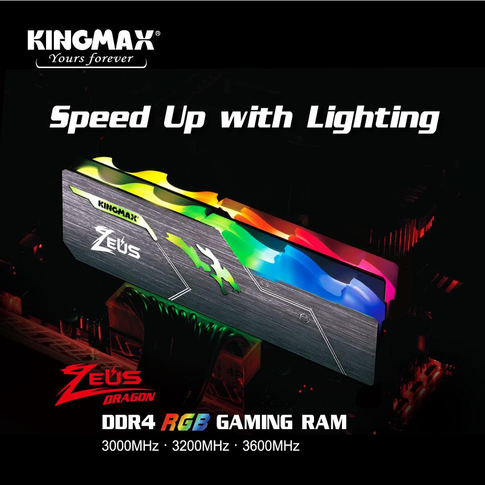 Kingmax Zeus Dragon DDR4 RGB Gaming RAM 16GB 3200Mhz Single 3