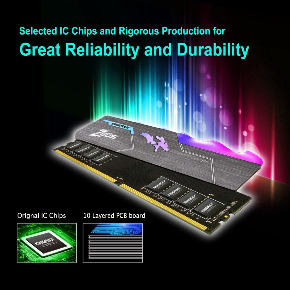 Kingmax Zeus Dragon DDR4 RGB Gaming RAM 16GB 3200Mhz Single 6