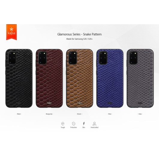 Kajsa Glamorous Collection (Snake Pattern) Back Case for Samsung Galaxy S20 Series 1