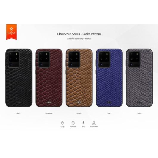 Kajsa Glamorous Collection (Snake Pattern) Back Case for Samsung Galaxy S20 Series 2