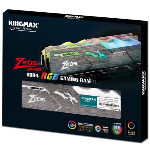 Kingmax Zeus Dragon DDR4 RGB Gaming RAM 16GB 3200Mhz Single 2