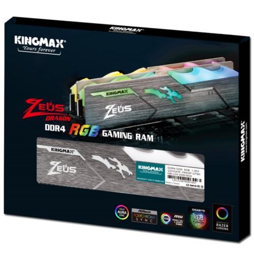 Kingmax Zeus Dragon DDR4 RGB Gaming RAM 8GB 3200Mhz Single 2
