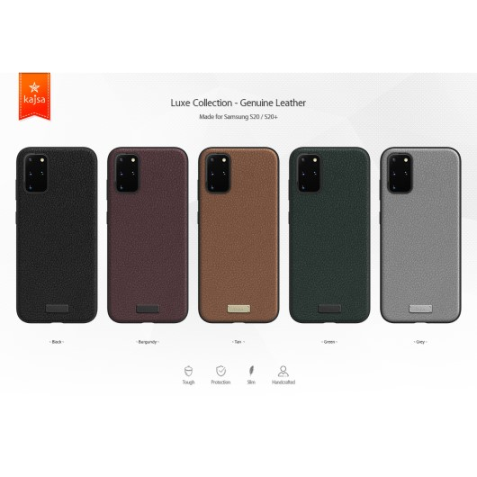 Kajsa Luxe Collection (Genuine Leather) Back Case for Samsung Galaxy S20 Series 1