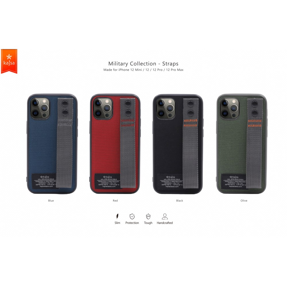 Kajsa Military Collection (Straps back) case for iPhone 12 Series 1