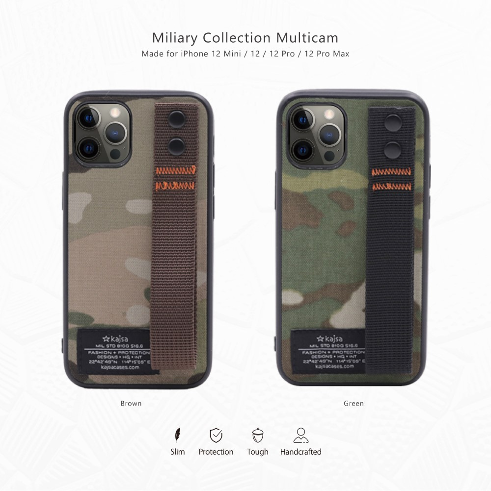Kajsa Military Collection (Straps back) case for iPhone 12 Series 4