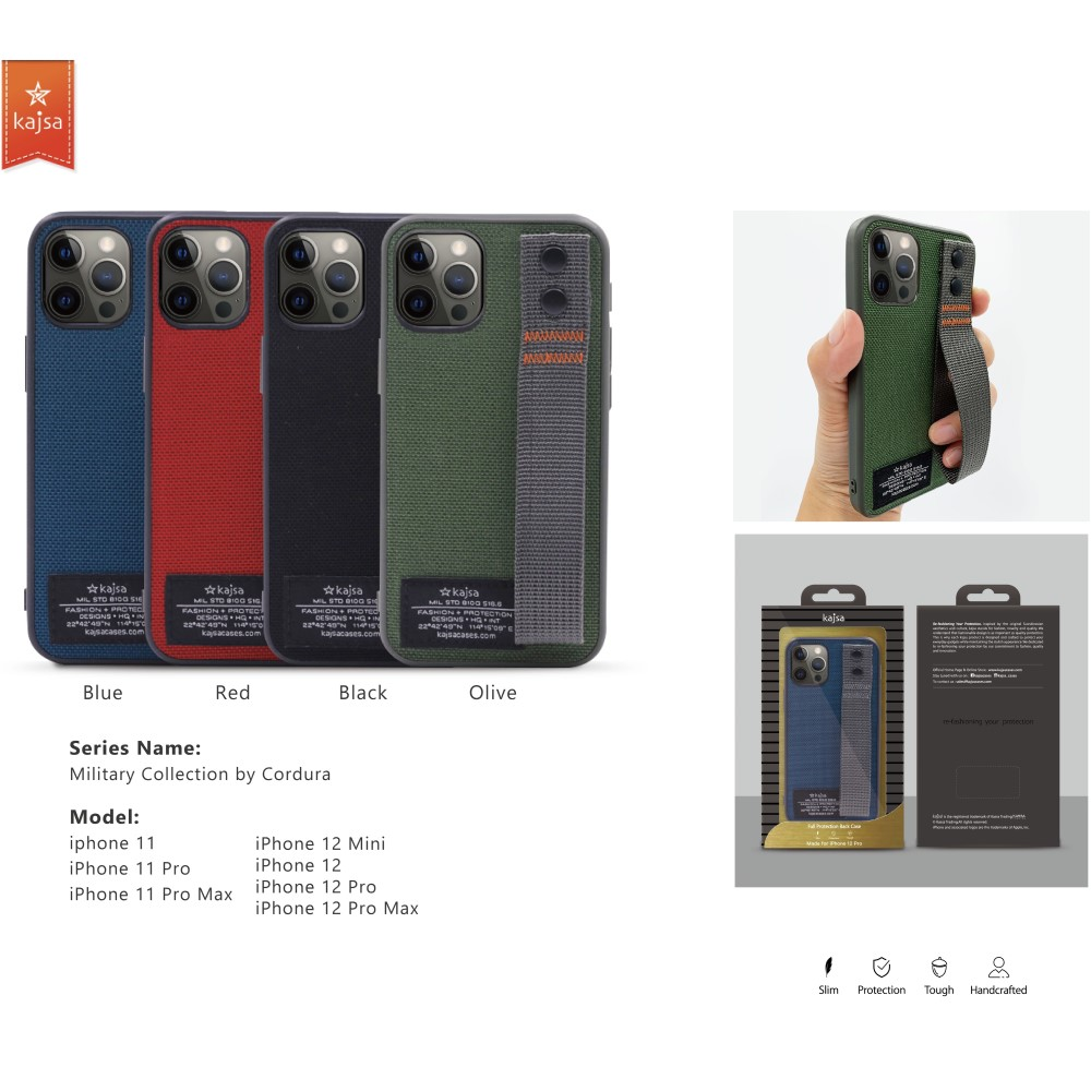 Kajsa Military Collection (Straps back) case for iPhone 12 Series 3