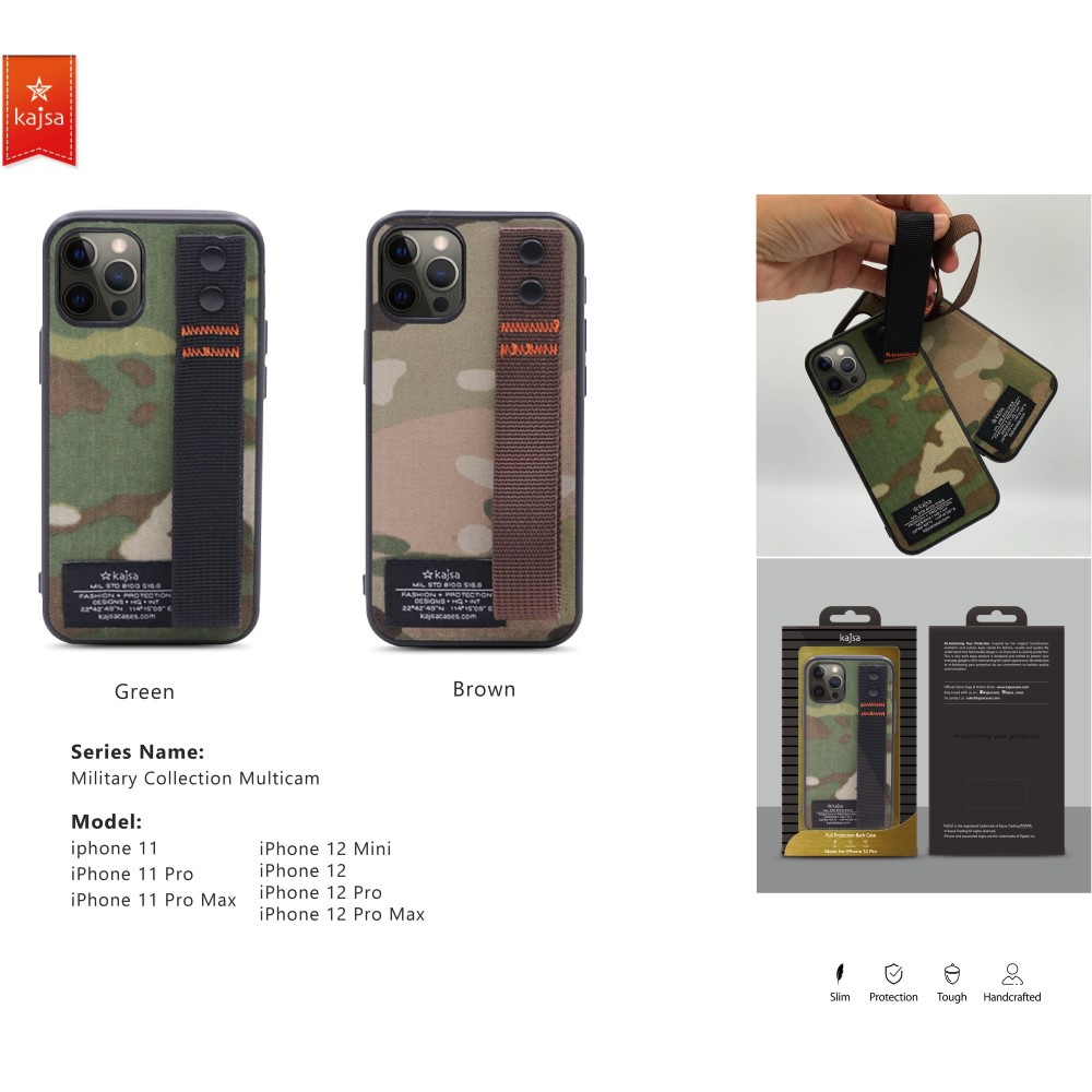 Kajsa Military Collection (Straps back) case for iPhone 12 Series 2