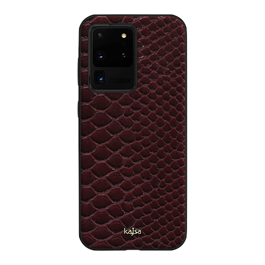 Kajsa Glamorous Collection (Snake Pattern) Back Case for Samsung Galaxy S20 Series 4