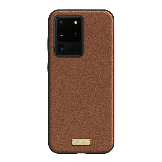 Kajsa Luxe Collection (Genuine Leather) Back Case for Samsung Galaxy S20 Series 5