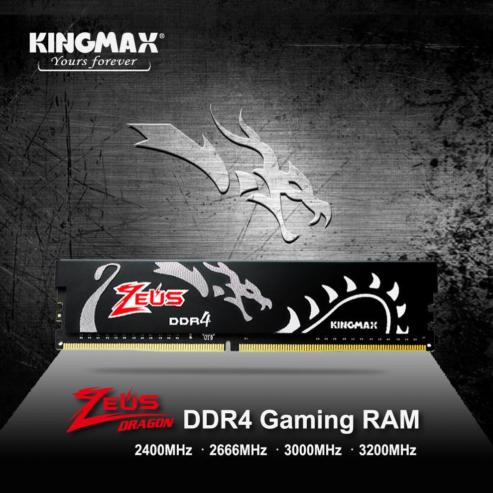 Kingmax Zeus Dragon DDR4 Gaming RAM 8GB 3200Mhz Single 3