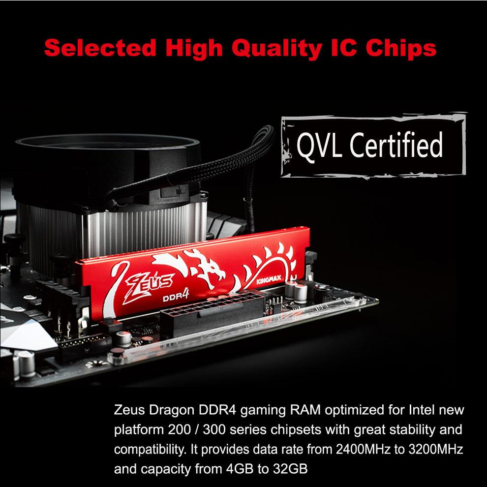 Kingmax Zeus Dragon DDR4 Gaming RAM 8GB 3200Mhz Single 4
