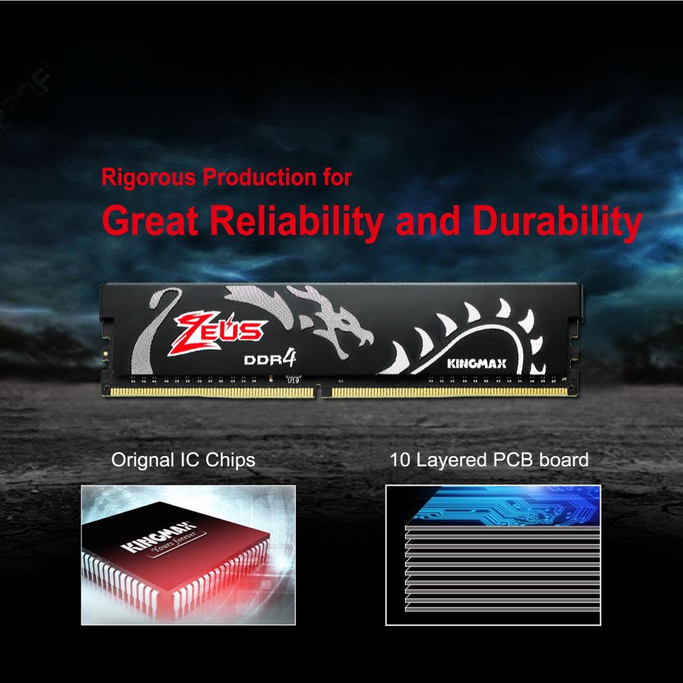 Kingmax Zeus Dragon DDR4 Gaming RAM 8GB 3200Mhz Single 5