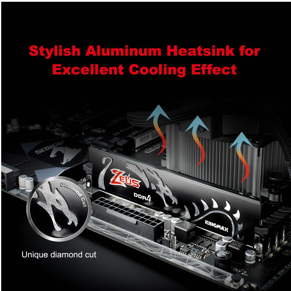 Kingmax Zeus Dragon DDR4 Gaming RAM 8GB 3200Mhz Single 6