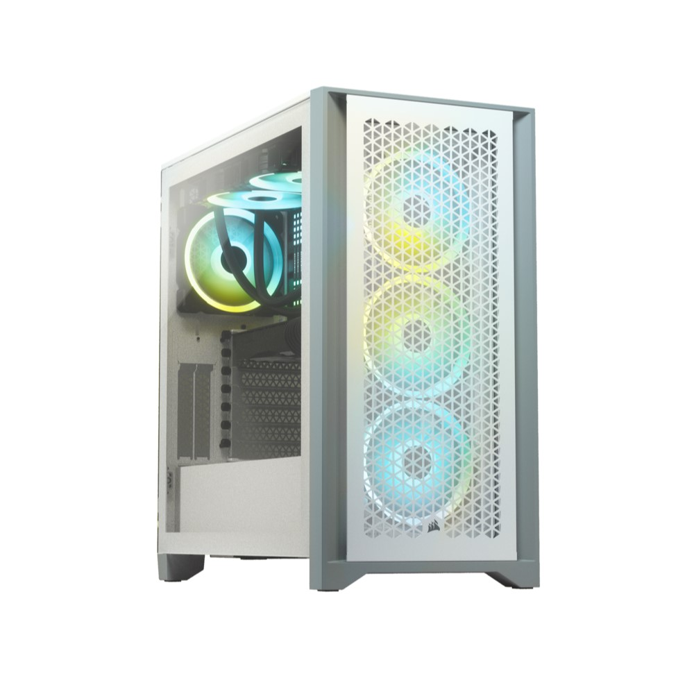 Corsair 4000D AIRFLOW Tempered Glass Mid-Tower ATX Case — White 10