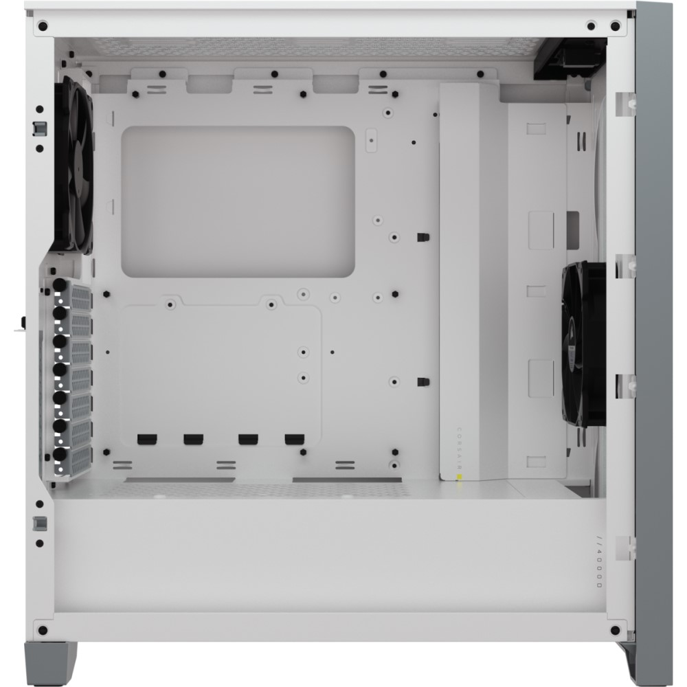 Corsair 4000D AIRFLOW Tempered Glass Mid-Tower ATX Case — White 5