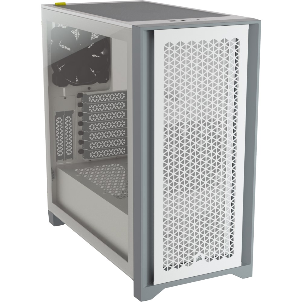 Corsair 4000D AIRFLOW Tempered Glass Mid-Tower ATX Case — White 17