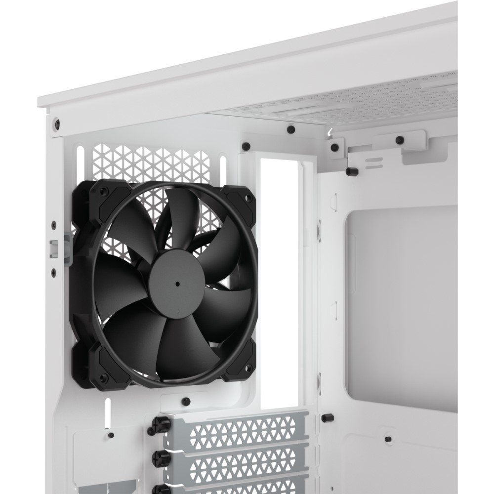Corsair 4000D AIRFLOW Tempered Glass Mid-Tower ATX Case — White 8