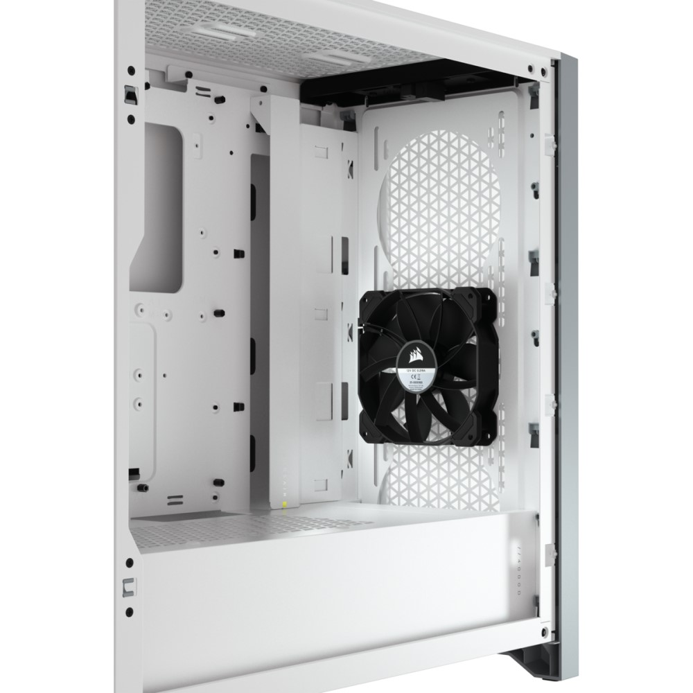 Corsair 4000D AIRFLOW Tempered Glass Mid-Tower ATX Case — White 6