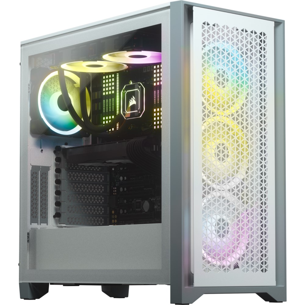 Corsair 4000D AIRFLOW Tempered Glass Mid-Tower ATX Case — White 2