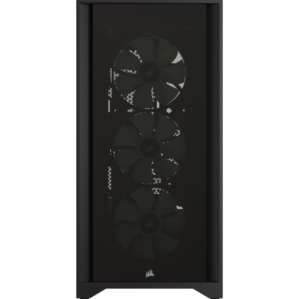 Corsair iCUE 4000X RGB Tempered Glass Mid-Tower ATX Case — Black 7