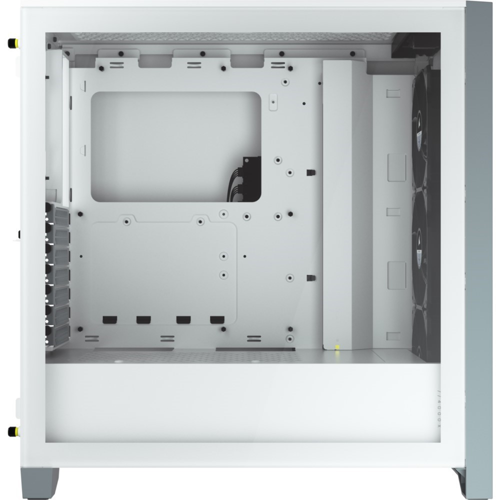 Corsair iCUE 4000X RGB Tempered Glass Mid-Tower ATX Case — White 9