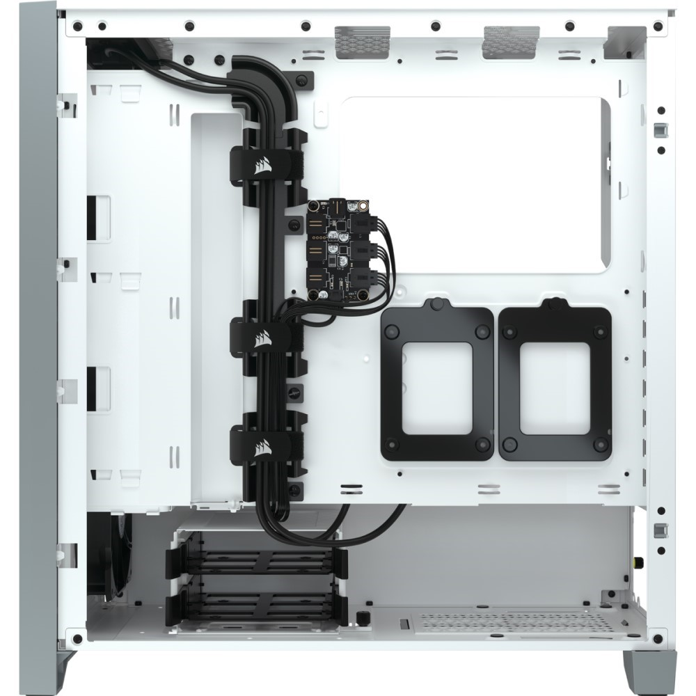 Corsair iCUE 4000X RGB Tempered Glass Mid-Tower ATX Case — White 2
