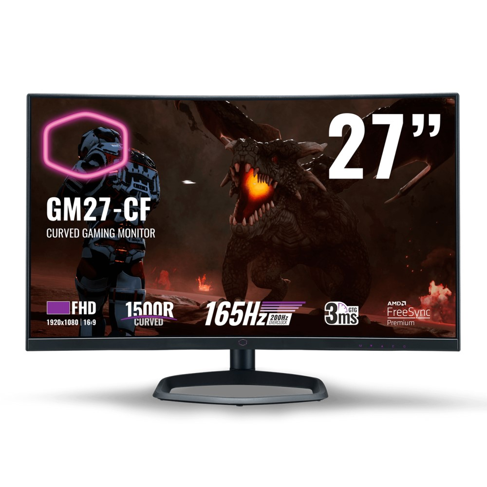 Cooler Master GM27-CF Curved Gaming Monitor FHD 165Hz 3ms (200Hz overclock) 2